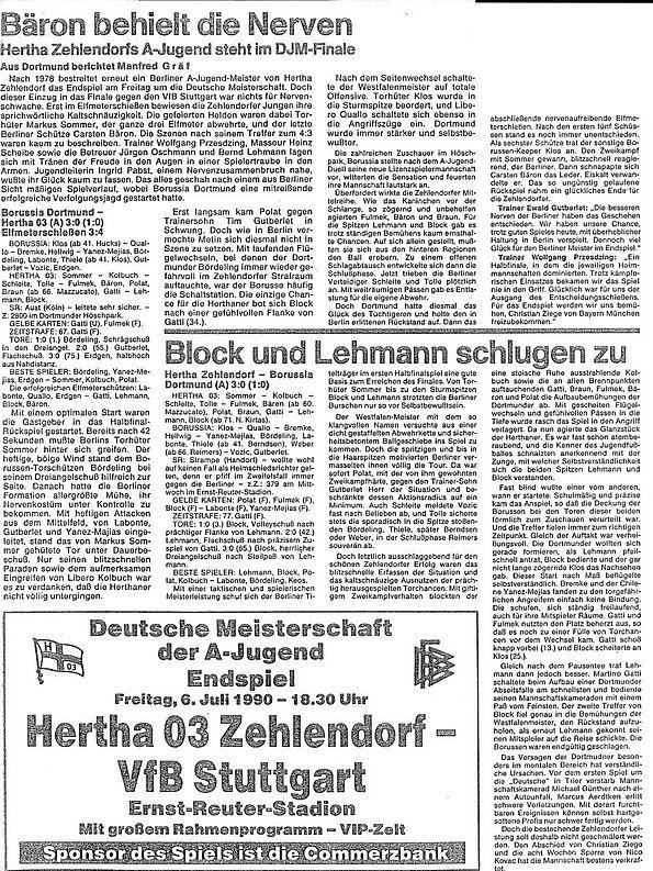 Programm 1997//98 Hertha 03 Zehlendorf Spandauer SV