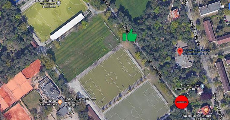 Ernst-Reuter-Sportanlage Zugang