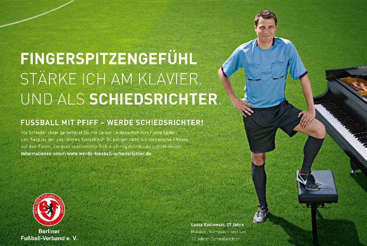 Motiv der BFV-Schiedsrichter-Werbekampagne.